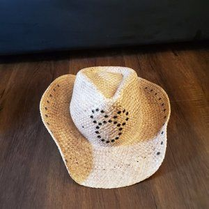 5 tan, brown, black Disney cowboy straw hats